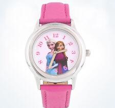 Disney Parks Exclusive Frozen Elsa & Anna  Watch Pink  wristwatch NIB adjustable