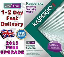 KASPERSKY Internet Security 2012 - 1 PC USER 1 ANNO-NUOVO SIGILLATO! 2013 2014 KIS
