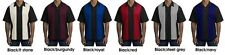 ##Port Authority Retro Bowling Shirt Charlie Sheen S300    MEDIUM  BLACK/RED