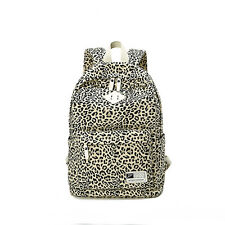 HOT Canvas Leopard Printed School Backpack Travel Rucksack Laptop Shoulder bag