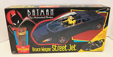 1993 BATMAN The Animated Series BRUCE WAYNE STREET JET with FIGURE New & Sealed