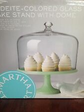 Martha Stewart Glass Jadeite Cake Dome Display Stand Diner Style New