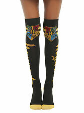 NEW Harry Potter Hogwarts School Crest Varsity Over the Knee High Ladies Socks