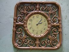 Home Interior Wall decor decorative brown burwood Clock (Reduced