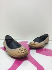 Tory Burch Caroline Nude Patent Leather Ballet Flats Womens Size 6 M