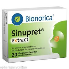 Sinupret Extract 20 tabl. rhinitis and sinusitis