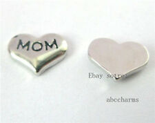 10pcs MOM heart floating charms for living locket free shipping FC163-1