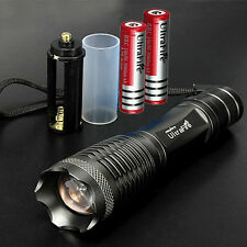 UltraFire 10000LM CREE XM-L XML T6 LED Flashlight Torch Zoom Lamp Double Battery
