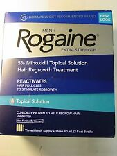 Rogaine Men's Hair Regrowth Treatment Topical Solution 3 month supply Exp 2018
