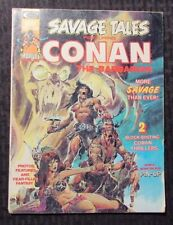 1974 SAVAGE TALES Featuring CONAN Magazine #4 FN- Neal Adams