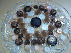 Vintage Assorted Button Lot - Celluloid - 3 Dimensional - Metal and More!