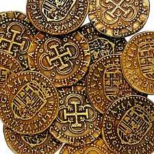 "GOLD DOUBLON FELIPE II COIN TREASURE  SPANISH ARMADA COIN""ONE COIN PER ORDER""G71"