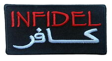 infidel Embroidered tactical seal combat velcro Patch