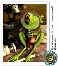 © ART - RESPECT ME DON'T DISSECT ME green tree FROG Original Artist Print by Di