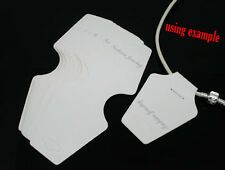 New 50 PCs White Necklace Jewellery Display Cards 13x5cm