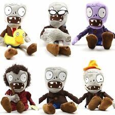 Set of 6 Zombie Plush Plants vs Zombies Toys Doll 28cm