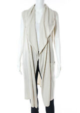 NWT CHANEL Beige Cashmere Sleeveless Cardigan Sweater Sz EUR 40 09P $2550