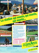 PUBLICITE ADVERTISING 034   1983   LES ARCS   station  de ski qui monte..