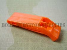 NATO SOLAS Approved Emergency DISTRESS WHISTLE Orange Ultra Loud Survival Hiking