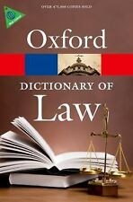 A Dictionary of Law Oxford Quick Reference