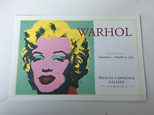 "ANDY WARHOL  "" MARILYN   ""  1967  Art Card postcard print  NEW Marilyn Monroe"