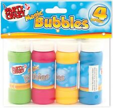 4 X 60ML MAGIC BUBBLE SOAP BOTTLE TUBS FOR BIRTHDAY KID CHILD PARTY BAG TOY 9280