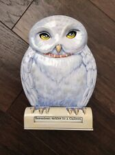 VERY RARE! SCHYLLING HARRY POTTER HEDWIG MECHANICAL OWL BANK 2001