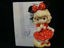 zi Precious Moments-Disney-Girl In Minnie Mouse Dress/Bow And Mouse Ears