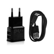 2A Dual USB EU Plug AC Wall Charger Adapter+Micro USB Cable Cord For Samsung HTC