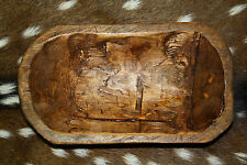 Carved Wooden Dough Bowl Primitive Wood Trencher Tray Rustic Home Decor 10 inch