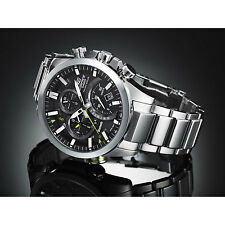 Casio Men's Edifice Black Label BLUETOOTH Solar Mobile Link Dual Dial EQB500D-1A