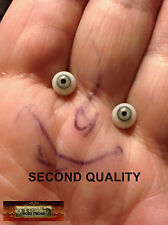 M01069 MOREZMORE SECONDS Miniature Glass Eyes 6 mm GREEN GREY Small Doll NSS