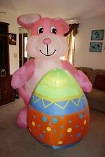 Giant 8' GEMMY Airblown Inflatable EASTER BUNNY W/ EGG Light Up Yard Lawn Decor