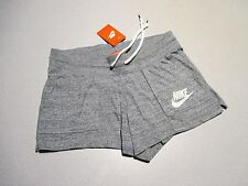 NIKE GYM VINTAGE FLEECE SHORTS WOMEN MED NWT 813874 heather GRAY SPORTS CASUAL