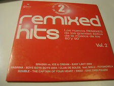 RAR MAXI PROMO CD. REMIXED HITS. VOL 2. 5 TRACKS. SPAGNA, SABRINA, SWAT,