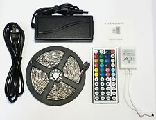 RGB 3M 10F Waterproof Outdoor LED Light Strip SMD 5050 + 44 Key Remote + 12V 3A