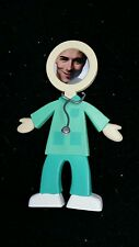 NEW Bendable Rubber People Photo Frame Medical Scrubs