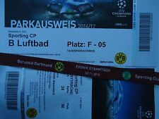 VIP TICKET Band & Parking UEFA CL 2016/17 Borussia Dortmund - Sporting CP (1)