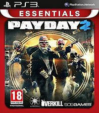 PS3 PayDay 2 Essentials Nuevo Precintado Pal España