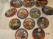 A Day With Garfield, Danbury Mint Exclusive Complete Set of 12 Collection Plates