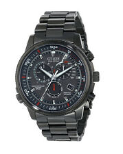 New Citizen Eco-Drive AT4117-56H Nighthawk A-T Black Stainless Steel Mens Watch