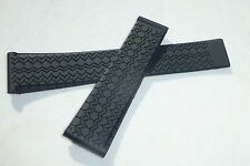 22mm, 22/18 Carrera Monaco Silicon Rubber Band Strap replacement for TAG Heuer