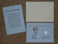 BOY'S CHRISTENING DAY GIFT* / PRESENT  LUCKY SIXPENCE & CHRISTENING POEM