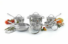 Lagostina stainless steel 12PC cucina mia 18/10 cookware induction ready paypal
