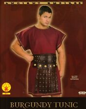 GREEK or ROMAN SOLDIER Warrior Legionaire Centurion Men's Burgundy TUNIC O/S New