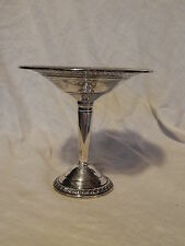 CROWN STERLING SILVER  ELEGANT COMPOTE, PIERCED DESIGN, SCRAP OR USE