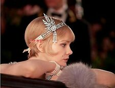 Bridal crystal hair band accessories celebrity style as in the movie with ribbon