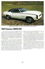 1969 Camaro 427 Article - Must See !! - COPO 9561 + 9737