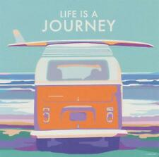 Life is a Journey VW Camper Art Deco Railway Poster 1930s style Birthday Card
