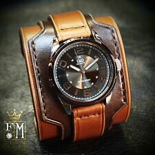 Leather Cuff Watch Nathan Drake Matara Custom Bracelet NYC by Freddie Matara
